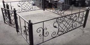 оградки на кладбище Тюмень